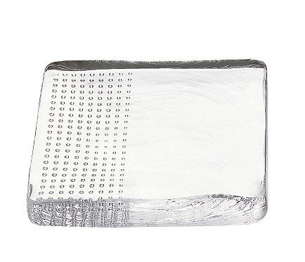 泡のお皿 15cm角皿(クリアー) BUB-815W$